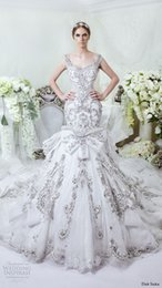 Wholesale 2016 Dar Sara Charming Amazing Crystal Bead Sequins Lace Mermaid Wedding Dresses With Straps No Sleeve Court Train Sexy Bridal Gowns Luxury