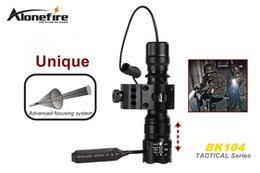 SKU1174 AloneFire BK104 Tactical Series CREE XM-L2 LED 5 mode Professional Zoom tactical flashlight torch lamp
