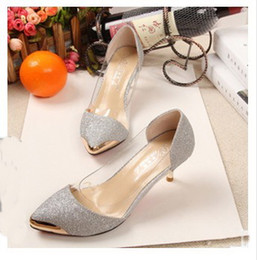 2015 Spring Autumn Women Shoes High Heels Metal Head pointed toe Sexy Women Pumps Wedding Shoes For Women