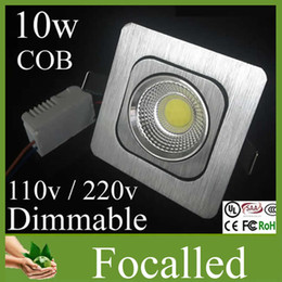 CREE Square Cob Led Ceiling Downlight 10w Dimmable Recessed Led Down Light For Kitchen 360 degree rotation 110-240v 12v UL CE