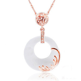 Wholesale ORSA Newest Design Luxury Cat s Eye Stone Rose Gold Plated Necklace the Best Women Gift Ideas PN30