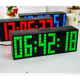 Wholesale NEW LED Clock Display Jumbo Large Digital Wall Alarm Countdown World Clock Blue LED Blue Clocks Timer