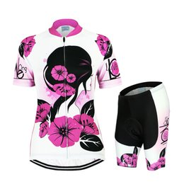 Wholesale Rose Red Women Stylish Hot Bike Jersey Special Design Short Sleeve Anti Pilling bicycle clothes Anti Shrink Cycling Gear Sport Wear Sale