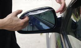 Wholesale 2Pcs Universal Flexible PVC Car Rearview Mirror Rain Shade Rainproof Blades car back mirror s eyebrow rain cover K885
