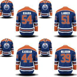 Wholesale 2016 MEN Anders Nilsson Zack Kassian Anton Lander Jajhar Khaira jersey Edmonton oilers Stitched Hockey Jerseys S XL