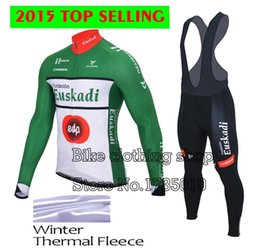 Wholesale-winter thermal fleece Euskadi cycling jersey long sleeves bib pants bib kits bicicleta mtb bike clothing roupa ciclismo 2015