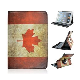 Wholesale The Canada Flag Rotating PU Leather Protective Tablet PC Case Cover Holder for iPad Mini Air Air