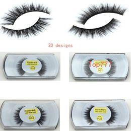 Wholesale makeup Mink False Eyelashes Real Mink Natural Thick False Fake Eyelashes Eye Lashes Makeup Extension Beauty Tools for women