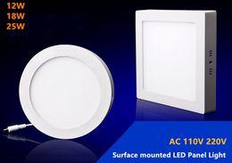 Купить Онлайн Поверхность панели-18W Площадь Led Поверхность Теплый белый 3000-3500K Супер панель Яркий светодиодный потолочный светильник лампа комплект с LED Driver AC 110-240В