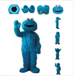 Wholesale Sesame Street Blue Cookie Blue Cookie Monster Cartoon Fancy Dress Mascot Costume Adult Suit Express
