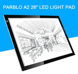 Wholesale Parblo A2 quot LED Light PAD Lux for Tracing Architecture Fashion Design Animation Drawing Viewbox for X ray films
