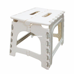Wholesale 1509 Home Kitchen Garden Beige Plastic Multi Purpose Folding Step Foot Stool Foldable Protable Mini Table Chair Easy Storage
