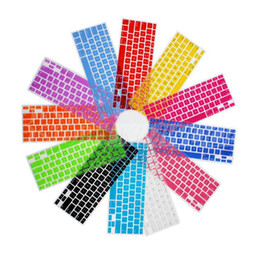 Laptop Soft Silicone Colorful KeyBoard Case Protector Cover Skin For MacBook Pro Air Retina 11 13 15 Waterproof Dustproof with Retail Box