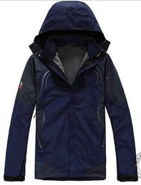 Promotion lignes de capot Automne-Hiver Outdoor Snow Sport Ski Veste imperméable au vent Respirant Suit Ski thermique Veste pour hommes manteau doublure + capuche