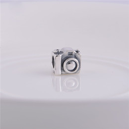 100% 925 Sterling Silver Thread Core Camera Charm Bead Fits European Pandora Jewelry Bracelets Necklaces & Pendant