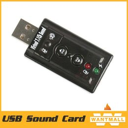 Wholesale Hot Sale Mini USB D Virtual Mbps External Channel Audio Sound Card Adapter