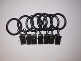 Wholesale Set of inch Black Metal Drapery Curtain Rings with Clips Fits Up To inch Rod