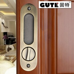 Wholesale GUTE Generic mm Bathroom shift locks Wood sliding door Dedicated Hook lock Balcony Sliding Door Lock For MM thickness