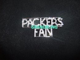 Wholesale quot PACKERS FAN quot Pin unique gift bling pins new fashion brooch pin rhinestone accessories