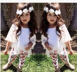 Wholesale New Fashion Europe Spring Summer Girls Sets Girls Fairy Sets Girls Floral Pants Little Coat Vest Sets Children Fashion Suits