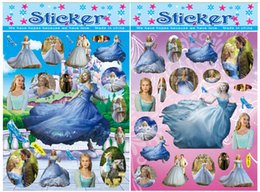 Wholesale New Cinderella Frozen my little pony Kids Stickers Design Toy Stickers Cartoon Craft Scrapbook Stickers Awards Children s Products Gifts