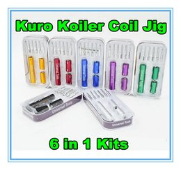 Newset Kuro Koiler Coil Jig 6 In 1 Kit Wire Coiling Universal Tool CW-20 CW-25 CW-30 For DIY RDA RBA Ecig atomizer vape coil jig