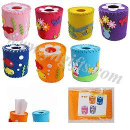 Wholesale 14PCS design mixed DIY felt weave towel tube craft kits Home decoration activity items kids toys