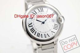 Luxury Male Silver Stainless Steel Watches Date Automatic Mechanical Brand Fashion Mens Wristwatch Modern Men Dress Men's Sport Watch