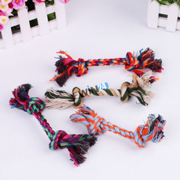 Trendy Pet Puppy Dogs Cotton Ropes Chews Toy Ball Play Braided Bone Knot For Fun 50pcs