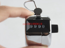 Descuento inventario libre 120pcs / lot liberan la nueva llegada de Metal contador de la cuenta de la mano Golf Celebrada ictus Lap recuento de inventario 4 dígitos R01