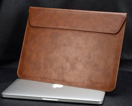 Wholesale high end genuine leather laptop case bag for notebook bag for macbook leather liner sleeve for macbook air pro inch