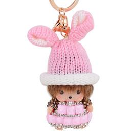 2016 2017 Newest Fashion Cute Rhinestone Doll Baby Girl Keychain