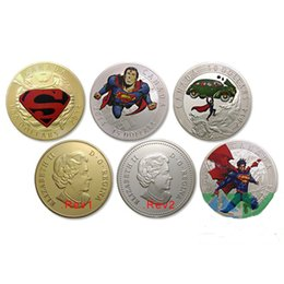Wholesale Canada Superman Royal Coin th Anniversary Superman Gold silver plated Canadian Coin souvenir Commemorative coin set