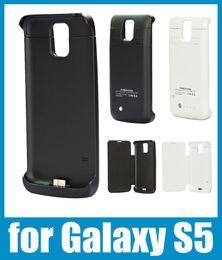 Wholesale 3800mAh puissance affaire Banque en batterie externe chargeur cas téléphone samsung galaxy s5 puissance Banque sauvegarde potable Leather flip BAC012 affaire