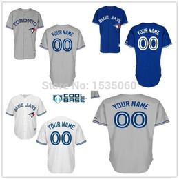 2015 New Toronto Blue Jays jersey custom Personalized Stitched authentic baseball jerseys cheap Customized white grey red men size M-XXXL
