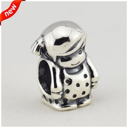 New Authentic 925 Sterling Silver Girl Beads Charm DIY Jewelry for Women Fits European Style Charms Bracelet