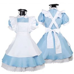 Wholesale Classic Maid Costume - Halloween Maid Costume mascot Alice In Wonderland Sexy Maids Outfit Fancy Dress