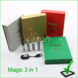 Wholesale Magic in eGo Starter Kit EVOD Battery mAH eGo Atomizer Clearomizer for dry herb wax e liquid Magic Vaporizer with CE ROSH