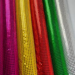Wholesale Wedding background mesh gauze curtain hanging piece Flash chip bead piece Costumes decorative fabric Elegant Wedding Sequin Table Linens