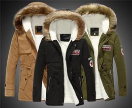 Wholesale Big Size S XL Winter Russian Mens Fur Coat Army Green Outwear Coats Military Man Jacket Hombre Winter Jacket Men Parkas Coats