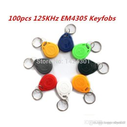Wholesale KHz EM4305 RFID Access Control Cards Keyfobs Key Finders Keychain Tags for Identity Authentication Card Payment A5