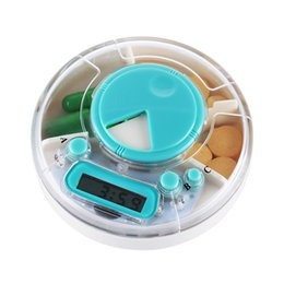 Wholesale Portable Pill Case Compartment Electronic Automatic Alarm Clock Time Reminder Pill Dispensers Box Medication Timer