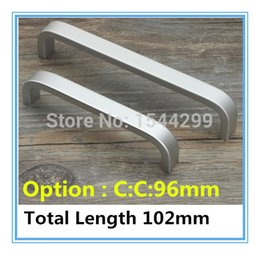 Wholesale Hole Pitch mm quot Length quot Space aluminum handle Kitchen Furniture pulls wardrobe handle drawer handle