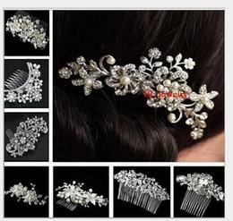 Wholesale Bridal hair comb Wedding hair jewelry crystal hair piece pearls hair accessories Art Deco Head Piece Headdress