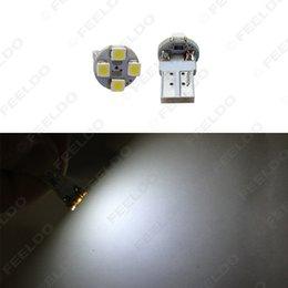 50pcs Super White Electrodeless Plug T10 168 194 1210 3528 4SMD Wedge Car LED Light Bulbs #1640