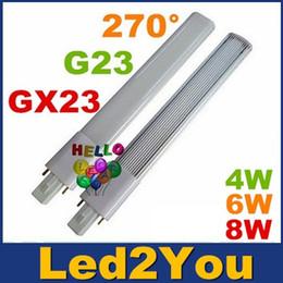 Wholesale G23 GX23 Led PL Light Super Bright W W W Led Bulbs Angle Replac CFL Lights AC V