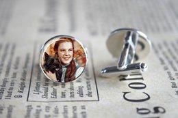 Wholesale 10pairs Dorothy Pendant Wizard of Oz Cufflinks Cuff Gift for Him Round Glass Cuff