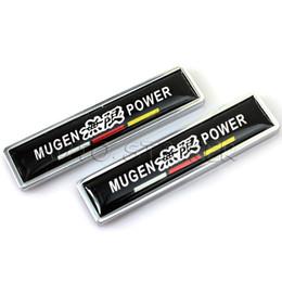 Wholesale Car Styling Metal Mugen Power Sticker Emblem Decal Car Door Sticker For Honda Accord Civic FIT City Odyssey Stream
