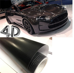 Wholesale 200mmX1520mm D Black Carbon Fiber Textured Vinyl with Bubble Free Air Release DIY Wrap Sheet Film Car Sticker Decal Car Styling