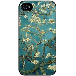 Wholesale Sakura Vintage Flower Watercolor Art Tribal Tree Pattern Hard Plastic Mobile Protective Phone Case Cover For iPhone S S c